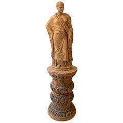 19th Century Italian Monumental Signa Terracotta Venere Figure Renassance Style