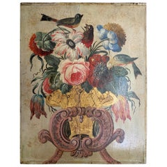 19th Century Italian Naive Flower Painting