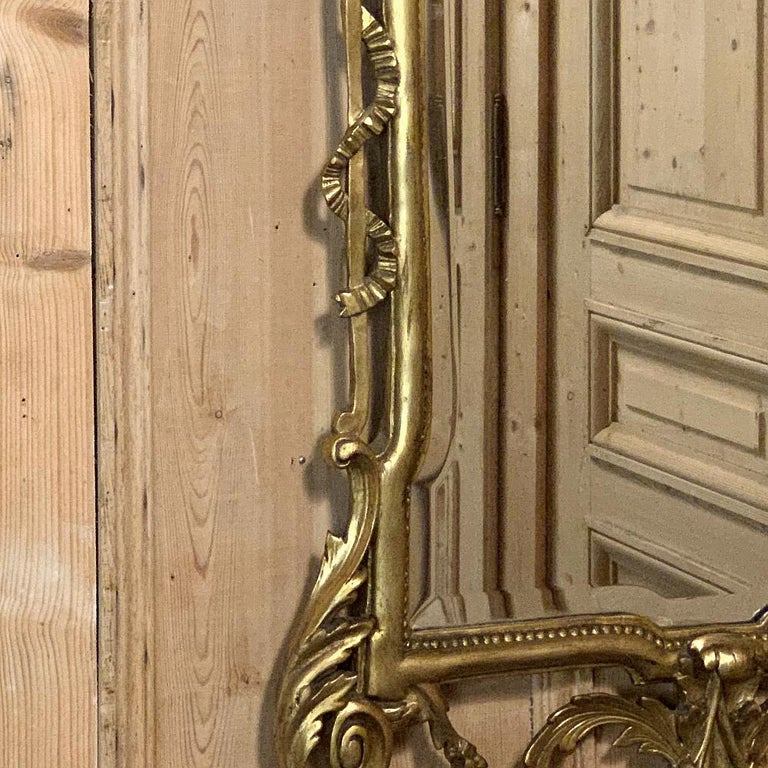 19th Century Italian Neoclassical Carved Giltwood Mirror For Sale 6