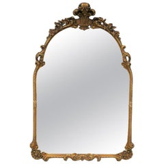19th Century Italian Neoclassical Gold Mirror in the Style of La Barge