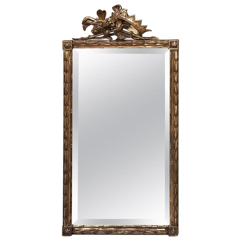 Italian neoclassical giltwood mirror, 1890s, offered by Inessa Stewart's Antiques & Interiors