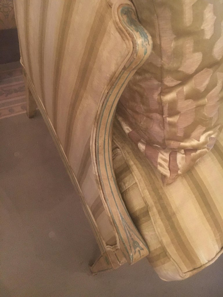 19th Century Italian Neoclassical Sofa with Painted Decoration 2