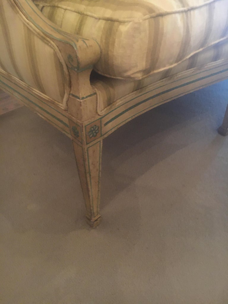 19th Century Italian Neoclassical Sofa with Painted Decoration 3