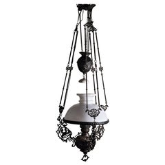 19th Century Italian Gas Lamp Chandelier