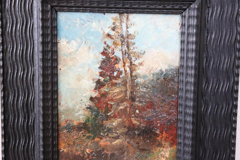 Oiled 19th Century Italian Oil Painting on Wood Panel by Fausto Zonaro, 1880s For Sale
