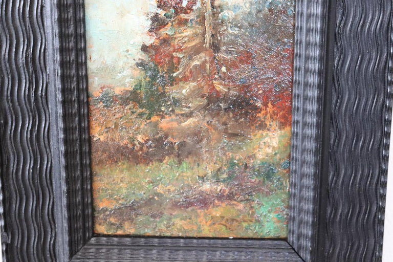 19th Century Italian Oil Painting on Wood Panel by Fausto Zonaro, 1880s In Excellent Condition For Sale In Bosco Marengo, IT