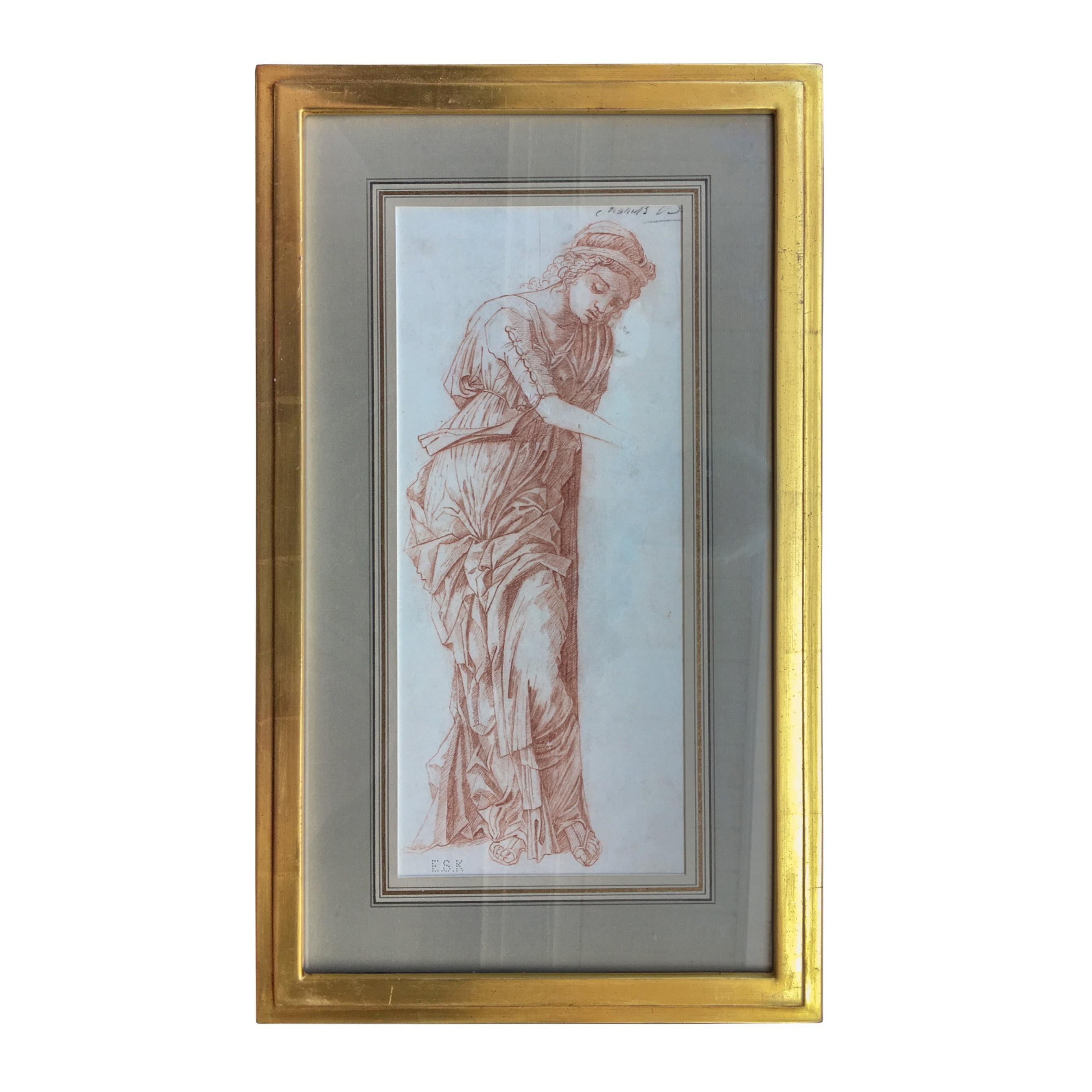 19th Century Italian Old Master Sepia Drawing