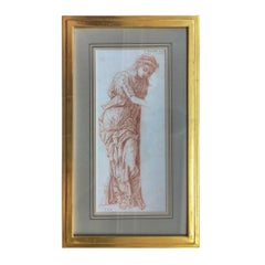 19th Century Italian Old Master Sepia Drawing