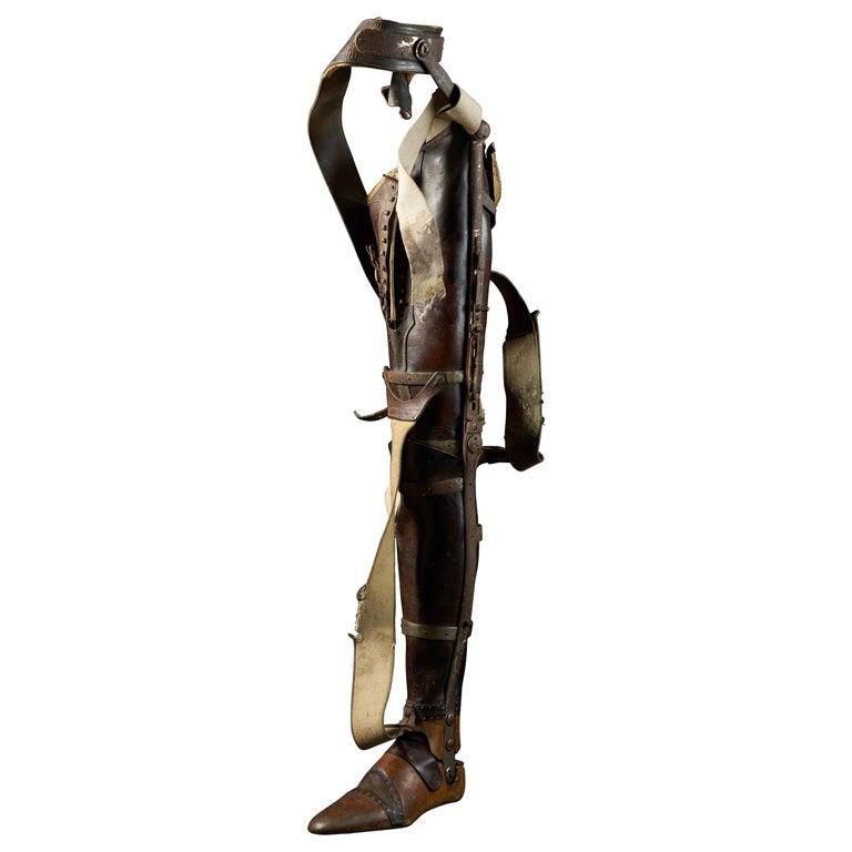 19th Century, Italian Original Wooden Prosthetic Leg For Sale