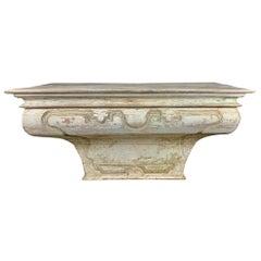 19th Century Italian Painted Alter Table