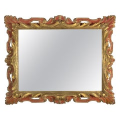 19th Century Italian Painted and Parcel-Gilt Mirror