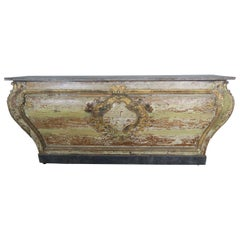 19th Century Italian Painted Console with Cartouche