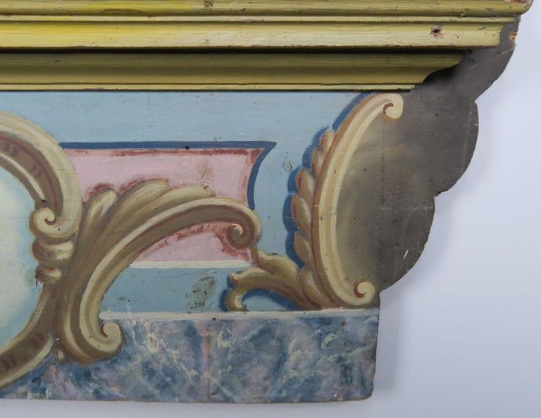 19th Century Italian Painted Frame with Cherubs For Sale 3
