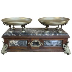 19th Century Italian Pharmacy Scales on Marble Base