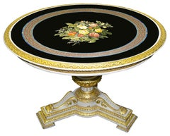 19th Century Italian Pietra Dura Inlaid Marble-Top Table