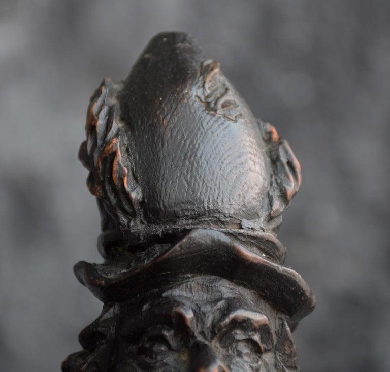 Mid-19th Century 19th Century Italian Pulcinella 'Polichinelle' Wooden Figure For Sale