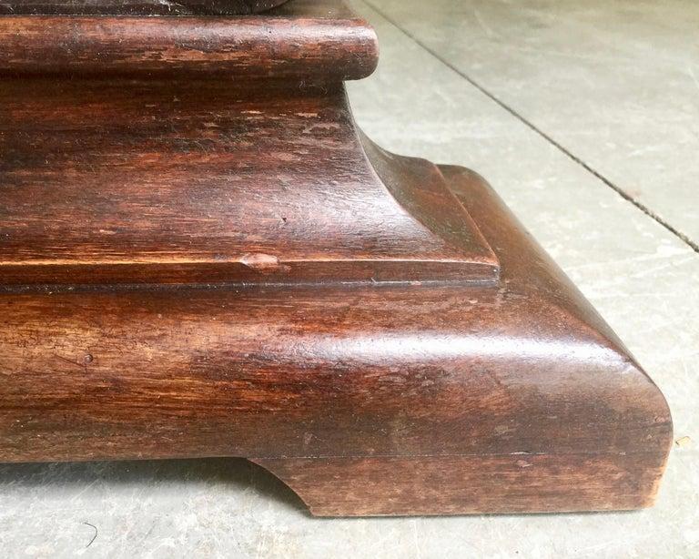 19th Century Italian Renaissance Revival Walnut Library Table For Sale 8