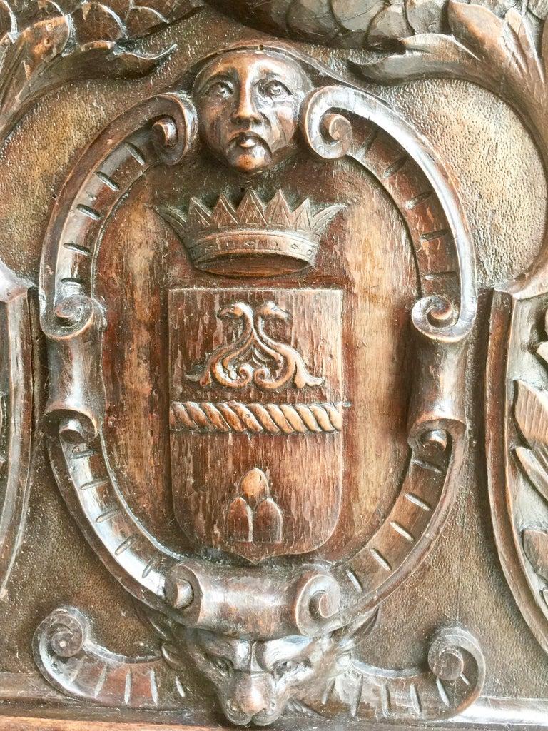 19th Century Italian Renaissance Revival Walnut Library Table For Sale 3