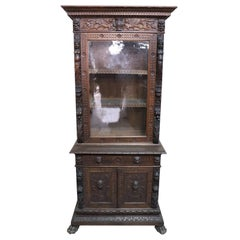 19th Century Italian Renaissance Style Carved Oak Bookcase or Sideboard