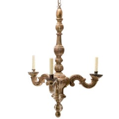 19th Century Italian Rococo Carved Giltwood Chandelier