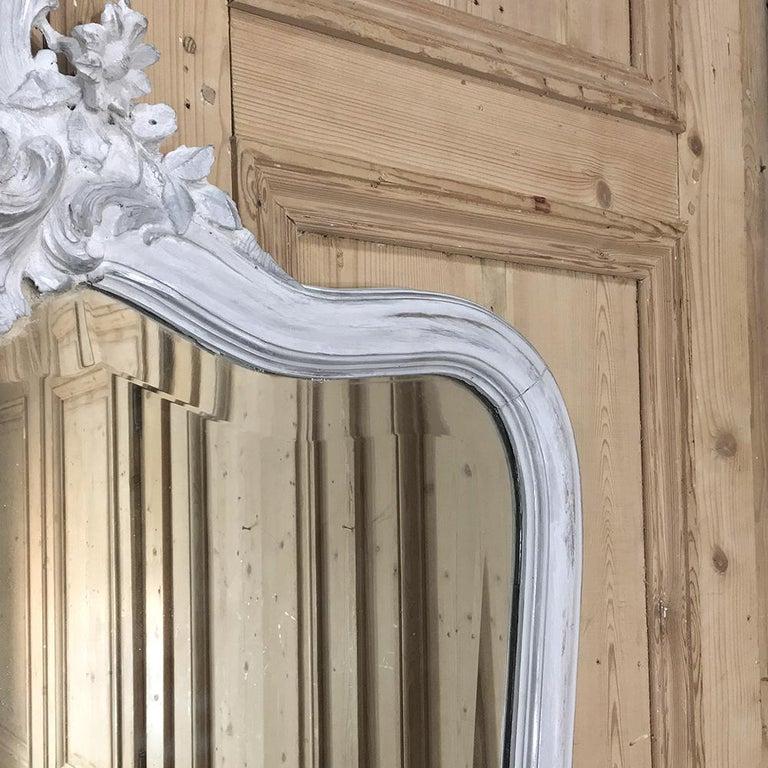19th Century Italian Rococo Painted Mirror For Sale 4