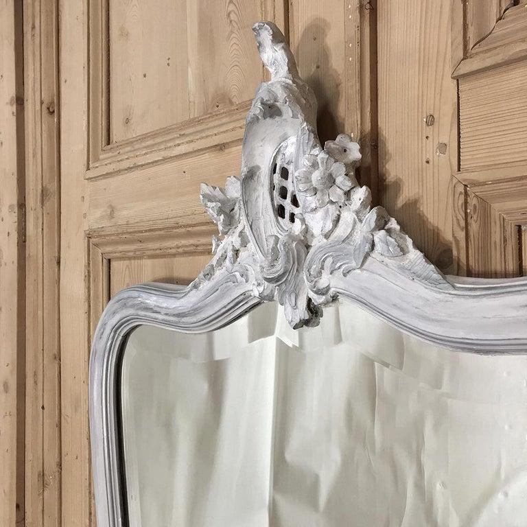 19th Century Italian Rococo Painted Mirror For Sale 2