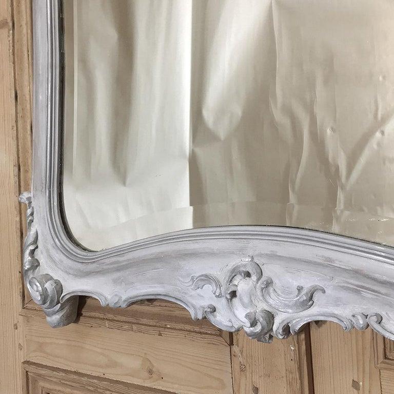 19th Century Italian Rococo Painted Mirror For Sale 3