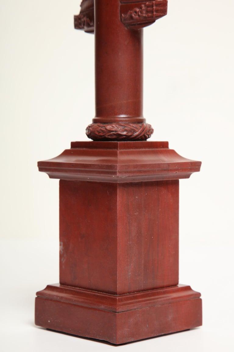 19th Century Italian Rostral Column in Rosso Antico For Sale 6