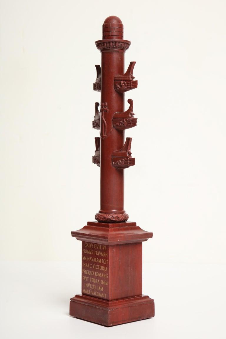 19th Century Italian Rostral Column in Rosso Antico For Sale 2