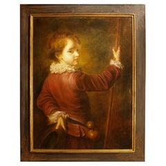 19th Century Italian School Framed Oil on Canvas
