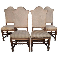 Set of Four 19th Century Italian Dining Chairs