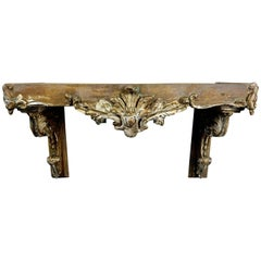 19th Century Italian Shelf with Marble top