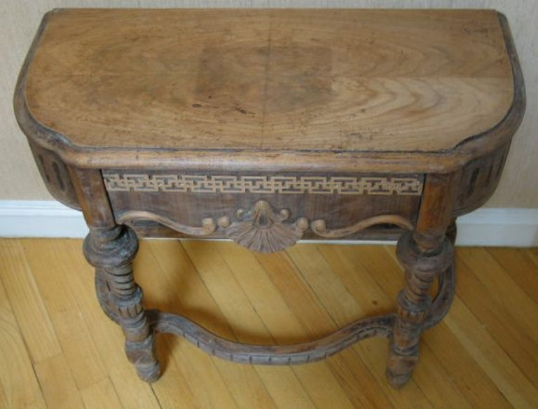 19th Century Italian Side Table In Good Condition For Sale In Douglas Manor, NY