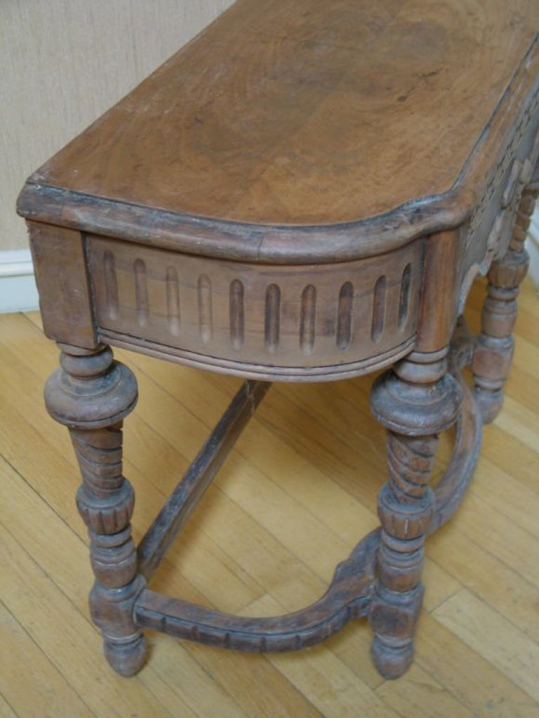 Wood 19th Century Italian Side Table For Sale