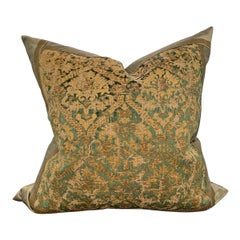 19th Century Italian Silk Velvet Pillow