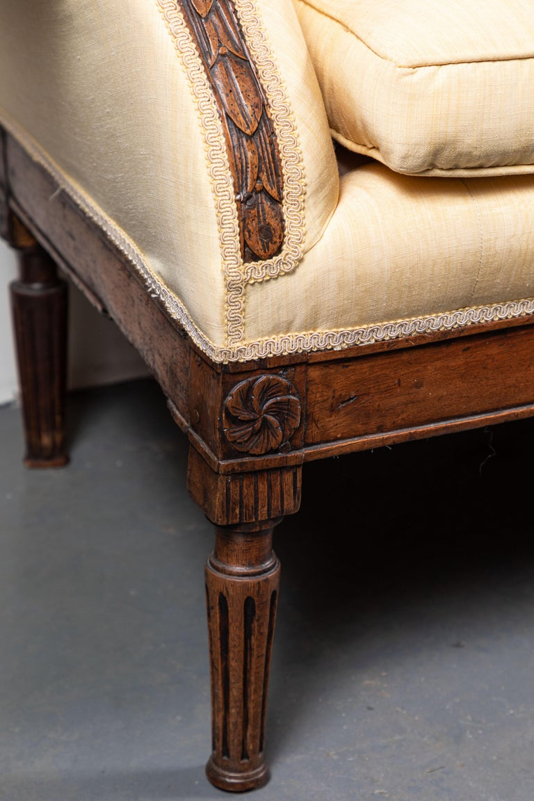 Hand-Carved 19th Century Italian Sofa For Sale