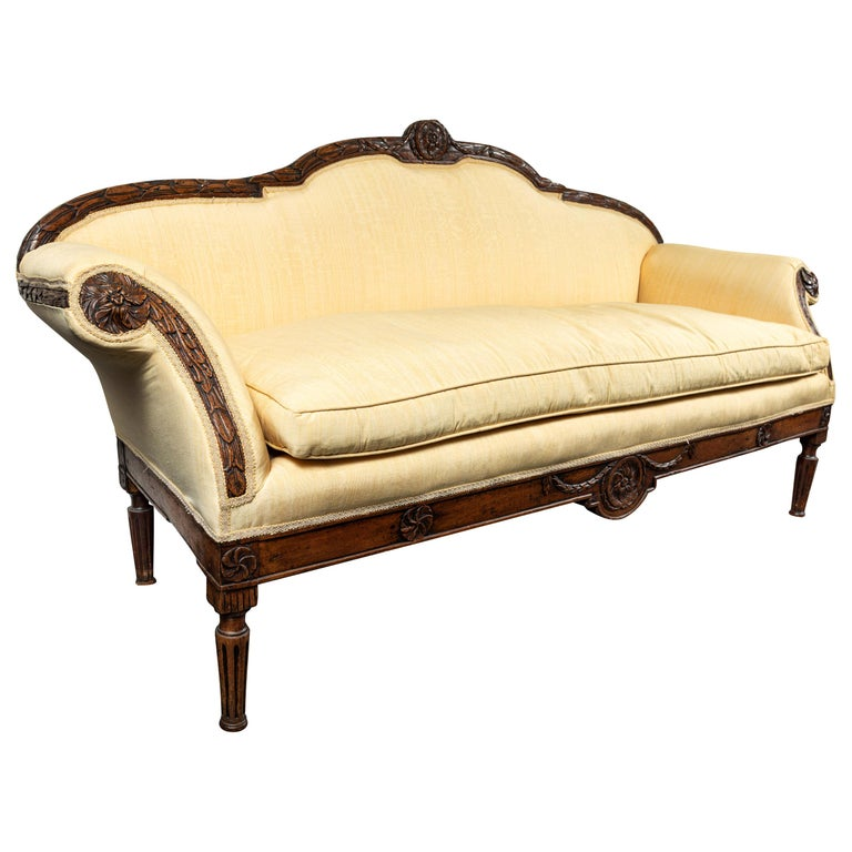 19th Century Italian Sofa For Sale