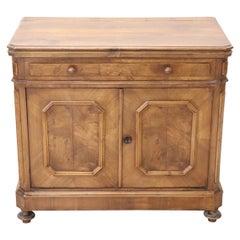 19th Century Italian Solid Oak Wood Sideboard, Buffet or Credenza