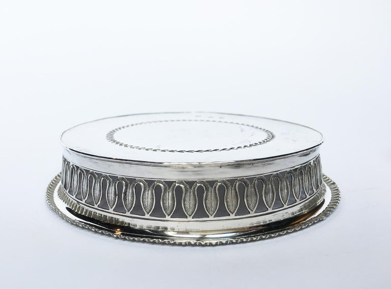 19th Century Italian Sterling Silver Glass and Wine Coasters, circa 1830 For Sale 3