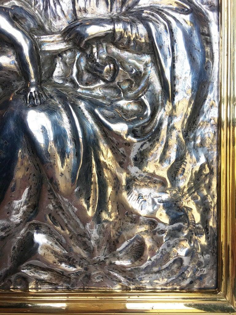 19th Century Italian Sterling Silver Madonna, circa 1830 For Sale 4