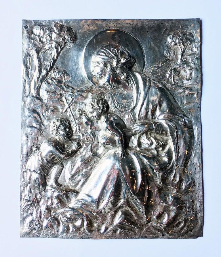 19th Century Italian Sterling Silver Madonna, circa 1830 For Sale 9