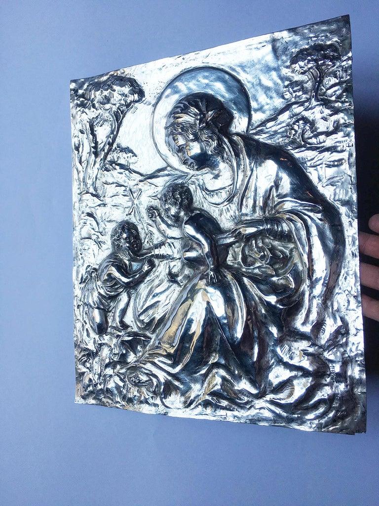 19th Century Italian Sterling Silver Madonna, circa 1830 For Sale 10