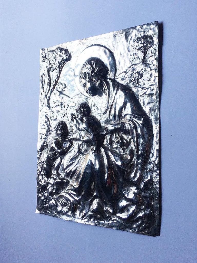 19th Century Italian Sterling Silver Madonna, circa 1830 For Sale 11