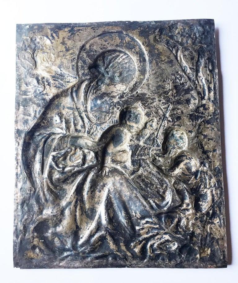 19th Century Italian Sterling Silver Madonna, circa 1830 For Sale 12