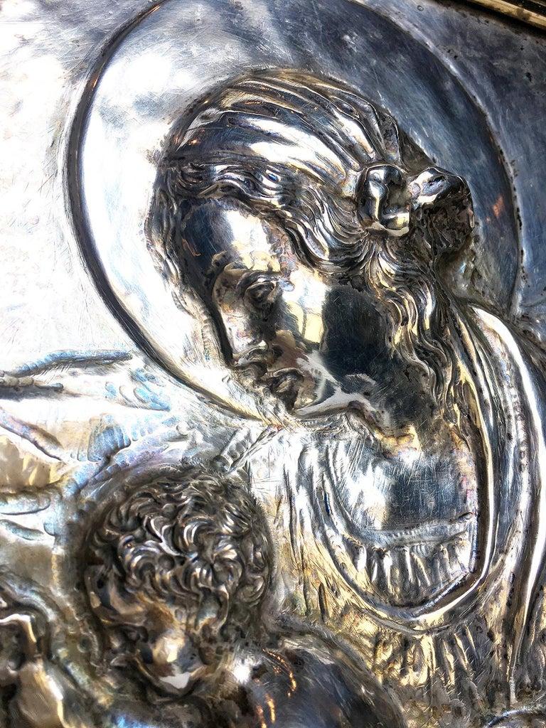 19th Century Italian Sterling Silver Madonna, circa 1830 In Good Condition For Sale In Milano, IT