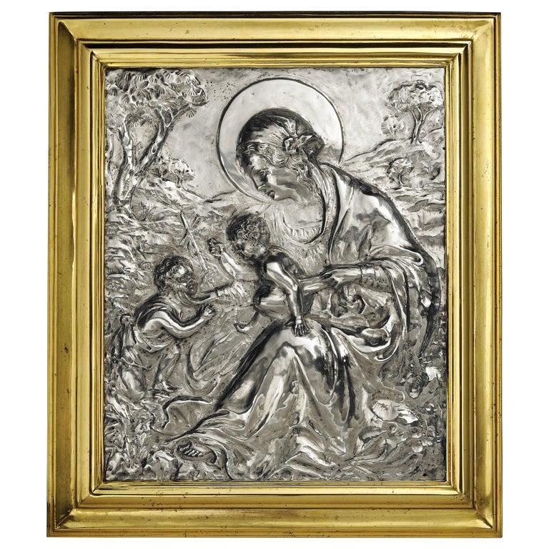 19th Century Italian Sterling Silver Madonna, circa 1830 For Sale