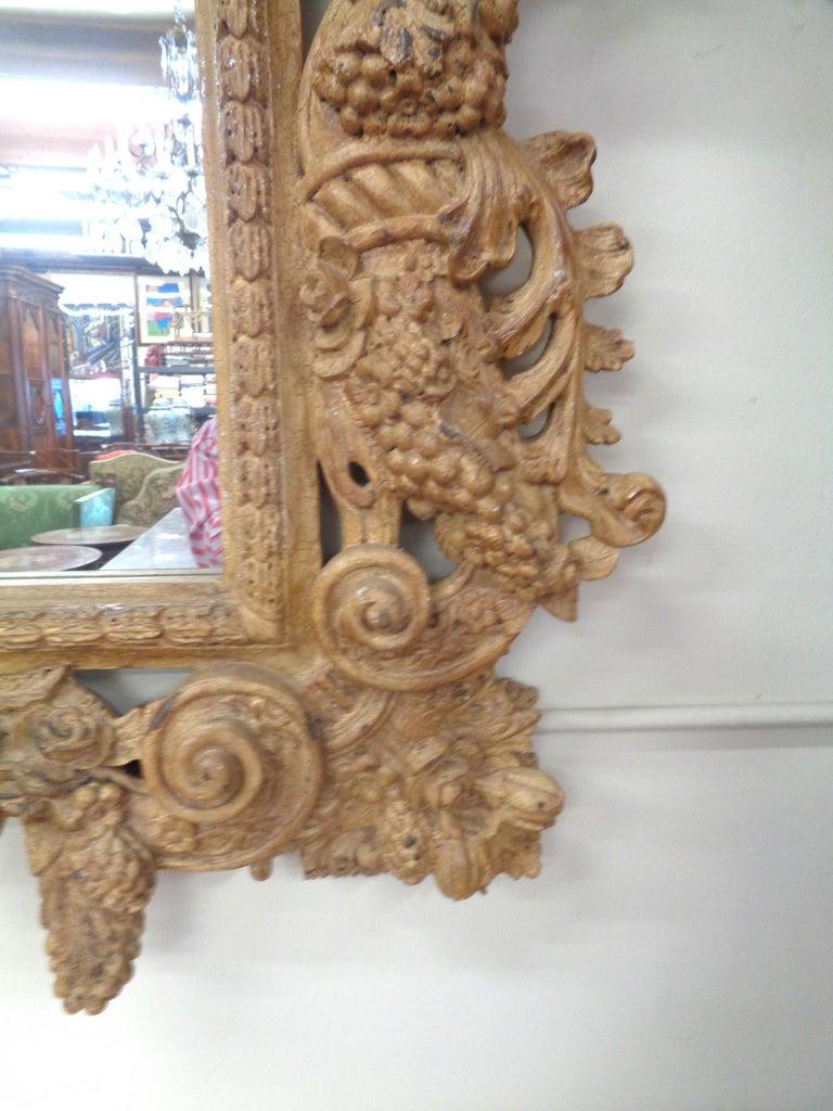 Wood 19th Century Italian Three Dimensionally Carved Mirror, circa 1880 For Sale