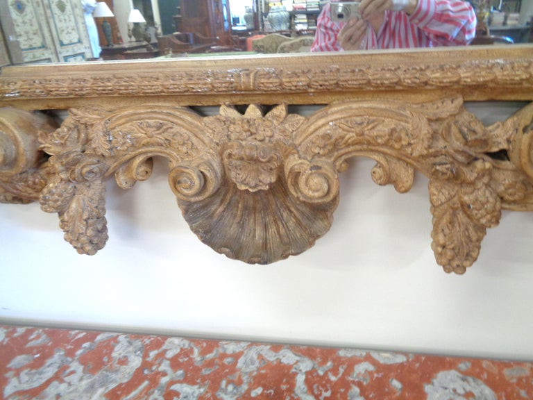 19th Century Italian Three Dimensionally Carved Mirror, circa 1880 For Sale 1