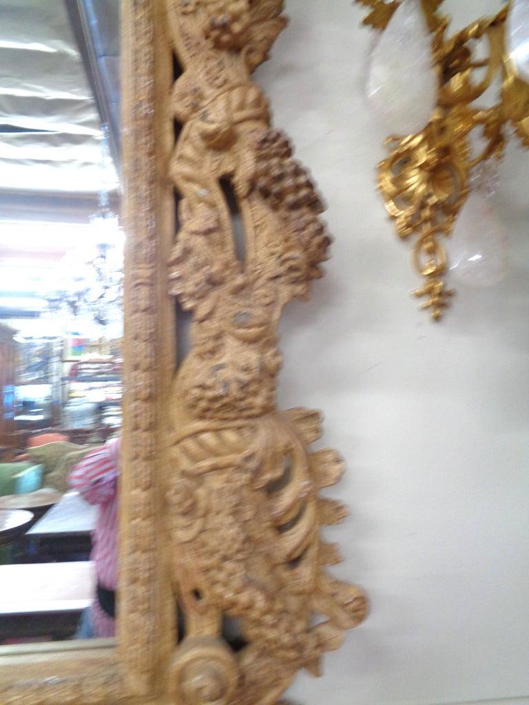 19th Century Italian Three Dimensionally Carved Mirror, circa 1880 For Sale 2