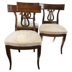 19th Century Italian Tuscany Charles X 12 Cherry Chairs, 1820s
